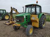 John Deere 6430 Tractor W/Side Boom Mower