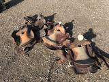 4 Horse Saddles