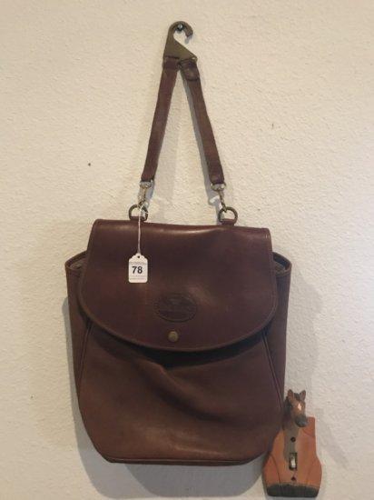 King Ranch Leather Saddle Bag