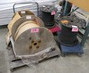 Spools of Cable, 1 Pallet & Items on 2 Dollies