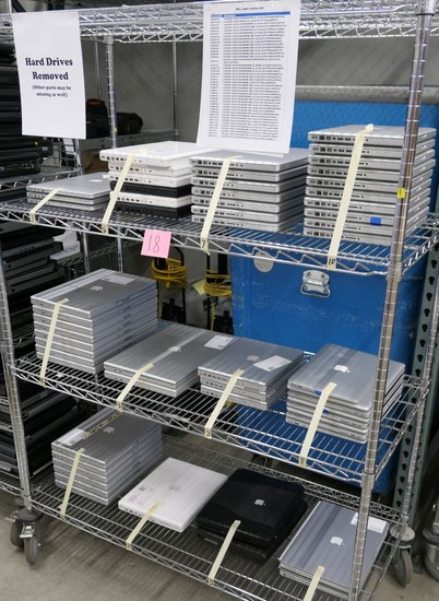 Apple Laptop Computers, Approx. 58, Items on Cart