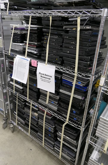 Misc. Laptop Computers, Approx. 162, Items on Cart