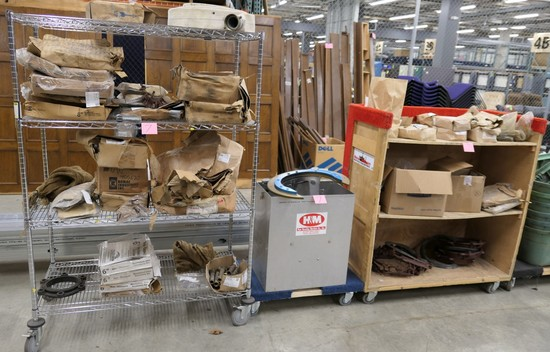 Misc. Plumbing Equipment and Supplies, Items on 2 Carts & 1 Dolly