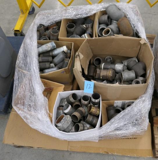 Misc. Metal Plumbing Fittings, Items on Pallet