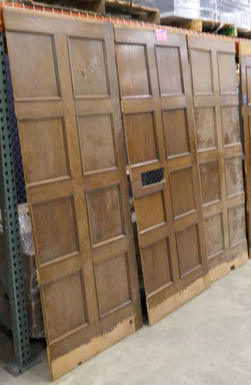 LOT 12: Antique Oak Wall Paneling: 3 pieces.
