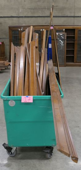 LOT 17: Antique Wooden Wall Molding/ Edging Slats