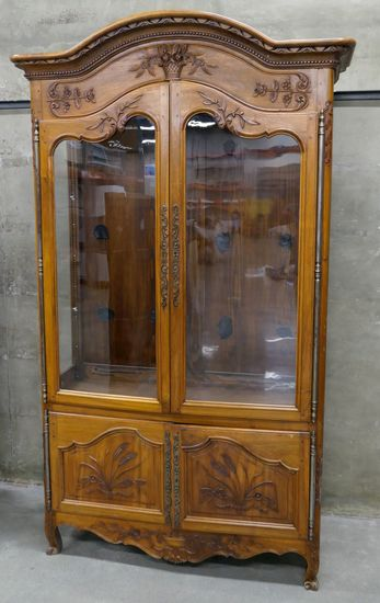 LOT 6: Illuminated Antique Wooden Cabinet