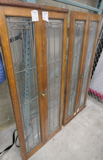 LOT 8: Qty 2 2-Part Hinged Leaded Glass Windows.