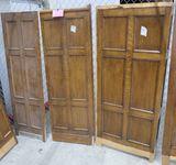LOT 10: Antique Oak Wall Paneling: 3 pieces (2 flat, 1 w/ corner).
