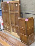LOT 20: Antique Oak Wooden Panels, 2 flat & 2 hinged.