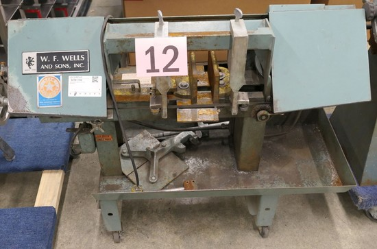 Horizontal Bandsaw: M.F. Wells and Sons Inc Model A-7 on Dolly