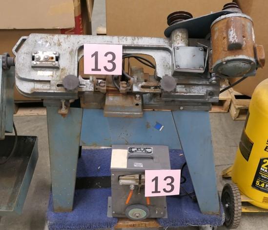 Horizontal Bandsaw w/Bandsaw Welder: Manufacturer Unknown on Dolly