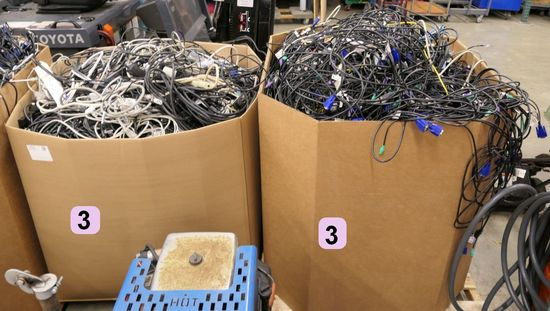 Misc. Cords & Cables: 2 Gaylords, Approx. 1,600lb. Gross Wt.