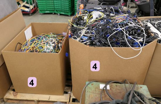 Misc. Cords & Cables: 2 Gaylords, Approx. 1,200lb. Gross Wt.