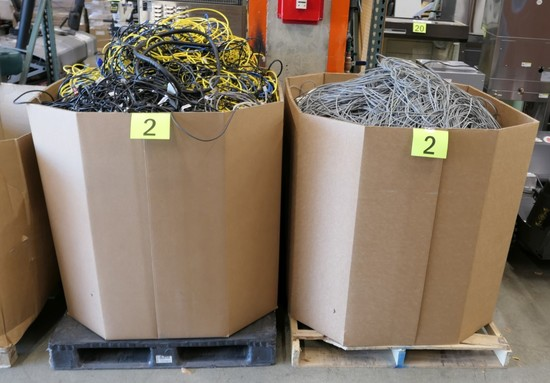 Misc. Cords & Cables: 2 Gaylords, Approx. 1,600 Lbs.
