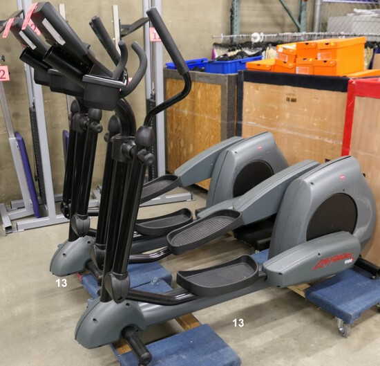 Ellipticals: Life Fitness 9100, 2 Items on Dollies