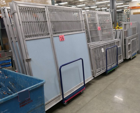Metal Fencing: Items on 3 Carts