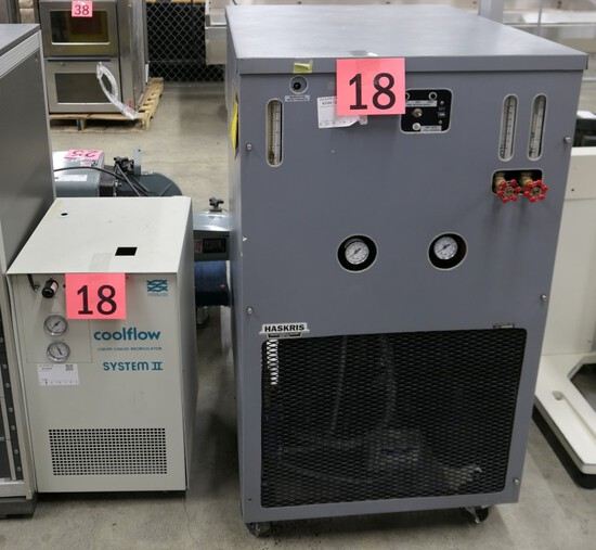 Chillers/Recirculators: Haskris R400, Neslab Coolflow System II, 2 Items