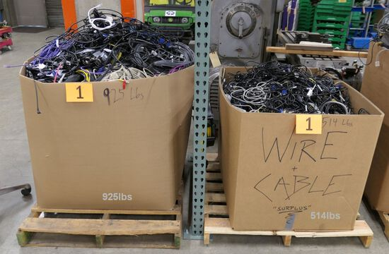 Misc. Cords & Cables: 2 Gaylords, Approx. 1400 Lbs. Gross Wt.