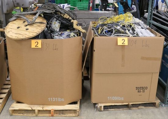Misc. Cords & Cables: 2 Gaylords, Approx. 2200 Lbs. Gross Wt.
