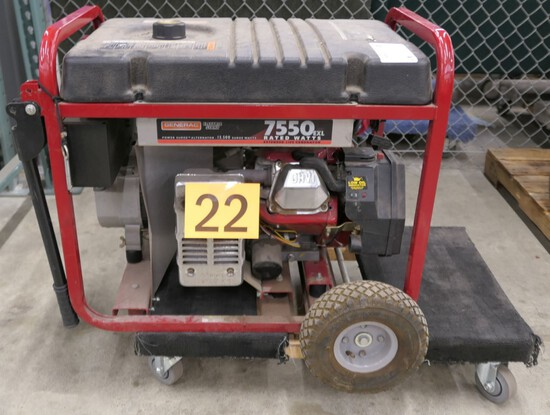 Generator: Generac 01470, 7550 Watt, Item on Dolly