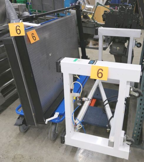 Optical Table: Newport VH3660W-Opt, 3 parts on 2 Dollies