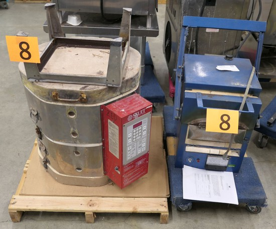 Kilns: Skutt KM-818-3, AIM Kilns 99LS, Items on 2 Dollies