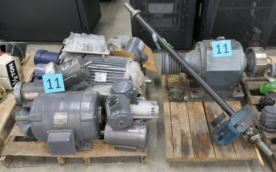 Motors and Gear Reducers: Items on 2 Pallets