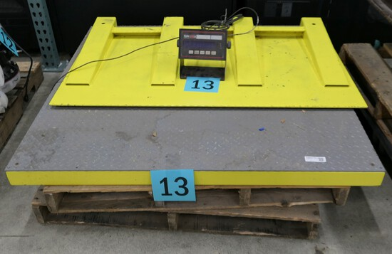 "Floor Pallet Scale; IQ plus 310A, with Ramp, 48""x48"", 2000 Lbs Capacity"