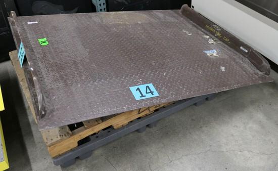 """Dock Plate: Steel, 48""""x54"""", 10,000 Lbs. Capacity, 1 Item on Pallet"""