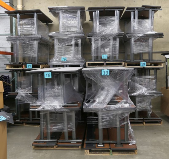 "Tables: Vecta, 60""x20""x29"", 80 Items on 10 Pallets"