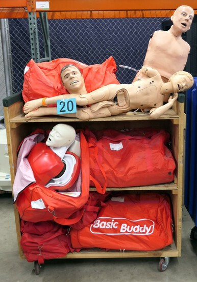 Training Dummies: CPR and Other Types, Items in Rolling Bin