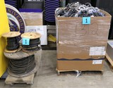 Misc. Cords & Cables: 1 Gaylord and 3 spools.