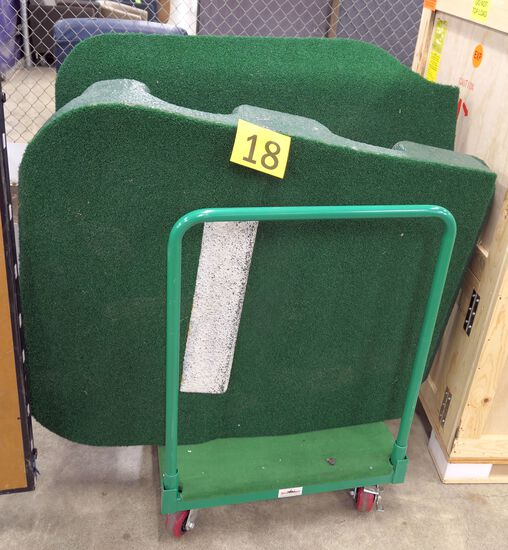Portable Pitching Mound: Portolite, 2 Pieces on Cart