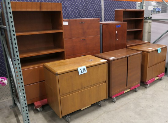 Office Furniture: 7 Items on Dollies