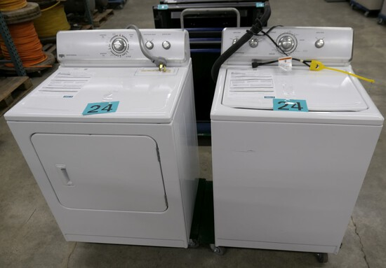 Laundry Machines: Washer & Dryer, 2 Items on Dollies