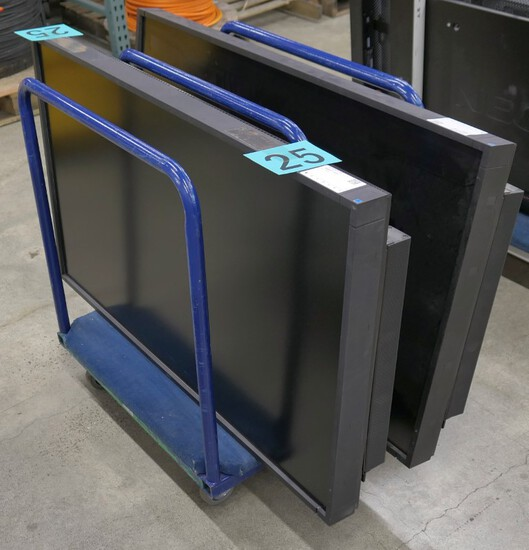 """Monitors, Group A: 55"""" LCD, NEC Multisync P552, 2 Items on Cart"""