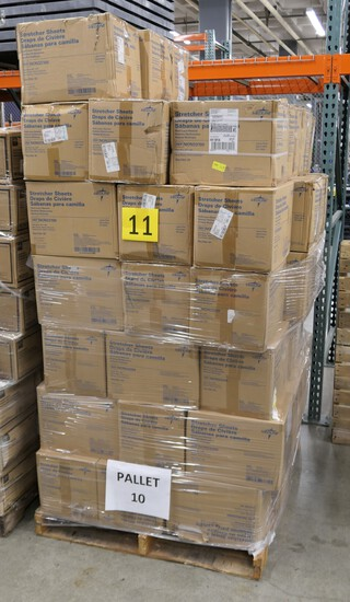 Healthcare Consumables Group K: Medline Disposable Stretcher Sheets. Items on Pallet.