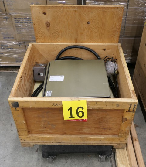 Laser Power Supply: Item in Crate on Dolly.
