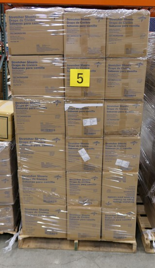 Healthcare Consumables Group E: Medline Stretcher Sheets. Items on Pallet.