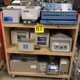 Misc. Lab Equipment Group Q: Water Baths & Ultrasonic Cleaners. Items on Cart.