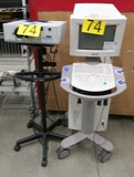 Misc. Lab Equipment Group W: Ultrasound & LuxTec Light. 2 Items with Wheels.