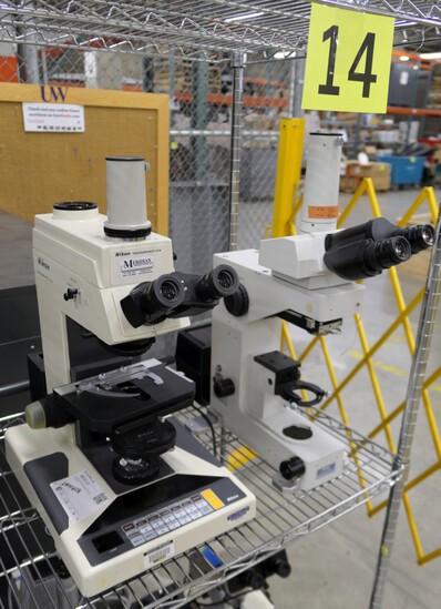 Microscopes: Nikon Microphot-FX & Nikon Eclipse E600FN, 2 Items