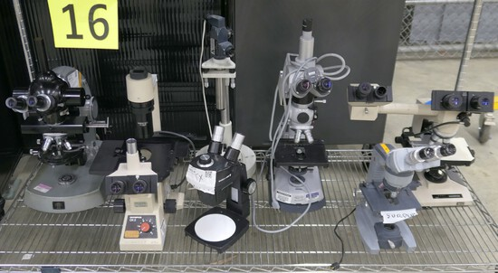 Microscopes: Carl Zeiss, Olympus CK2, Olympus BH-2, & Others