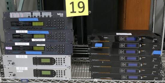 Audio/Visual Equipment: Telos & DaySequerra, 13 Items on Shelf