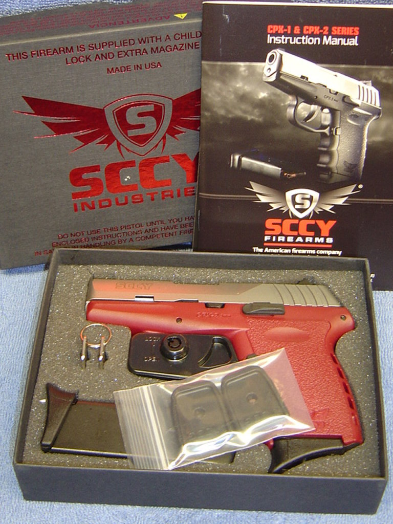 SCCY CPX2 9MM PISTOL TTCR SILVER OVER CRIMSON