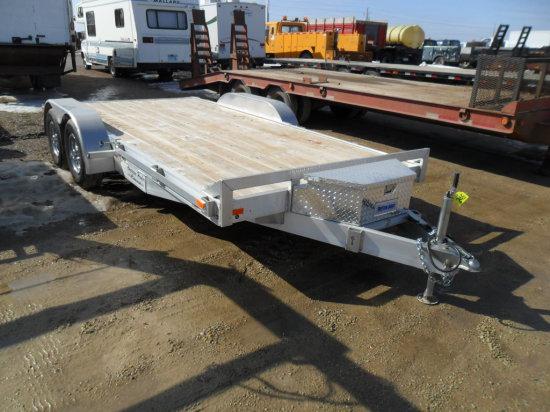 2017 18ft American Hauler, Alum, Car Hauler trailer, Beavertail, Ramps, tie downs, 4000 lbs axles