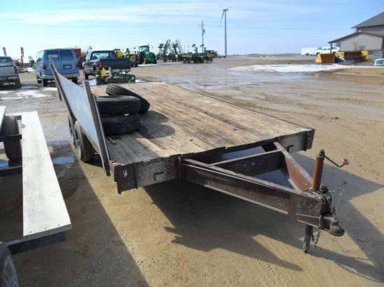 Tandem axle trailer, 16ft, 3000 GVW