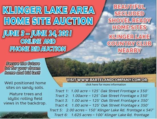 Klinger Lake Area Homesite Auction