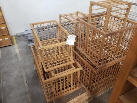 9 decorative wood crates
